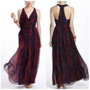 NWOT Anthropologie Silk Maxi Dress